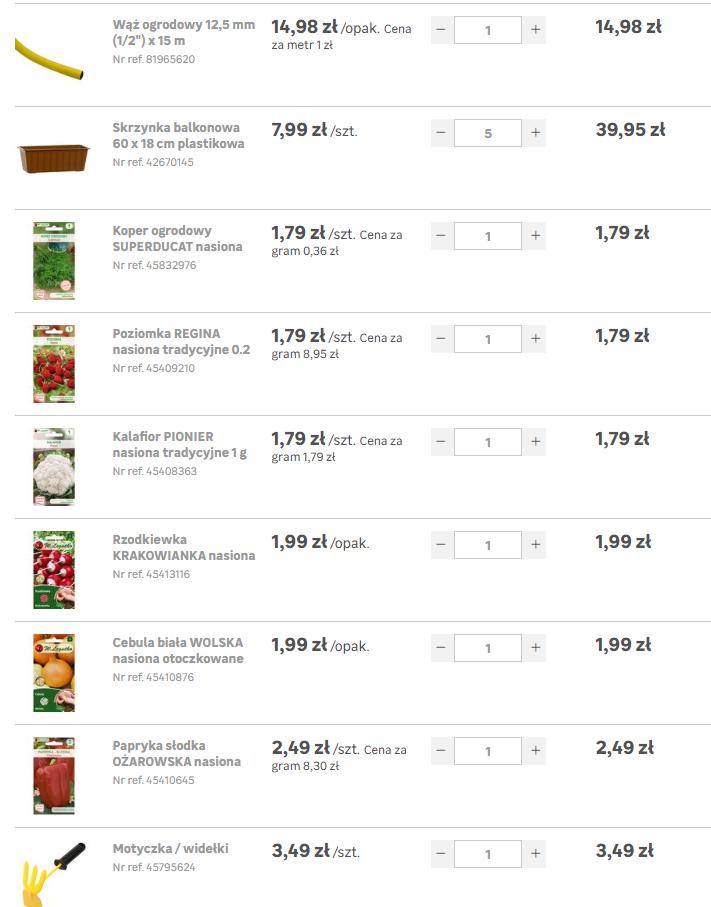 zakupy ogrodnicze